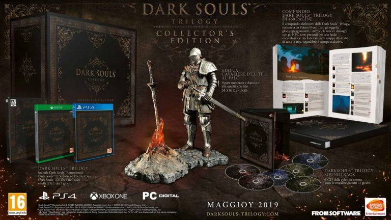 Dark Souls Trilogy PlayStation 4 Xbox One uscita