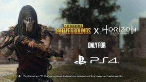 PUBG: evento a tema Horizon Zero Dawn, le ricompense PS4