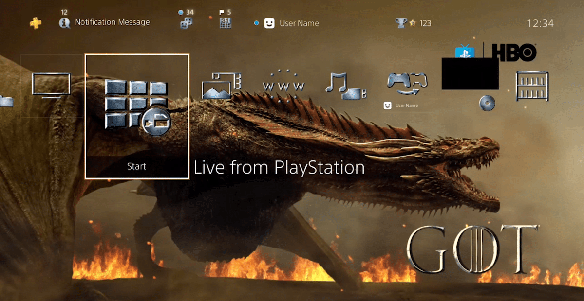 PlayStation: tema Game of Thrones