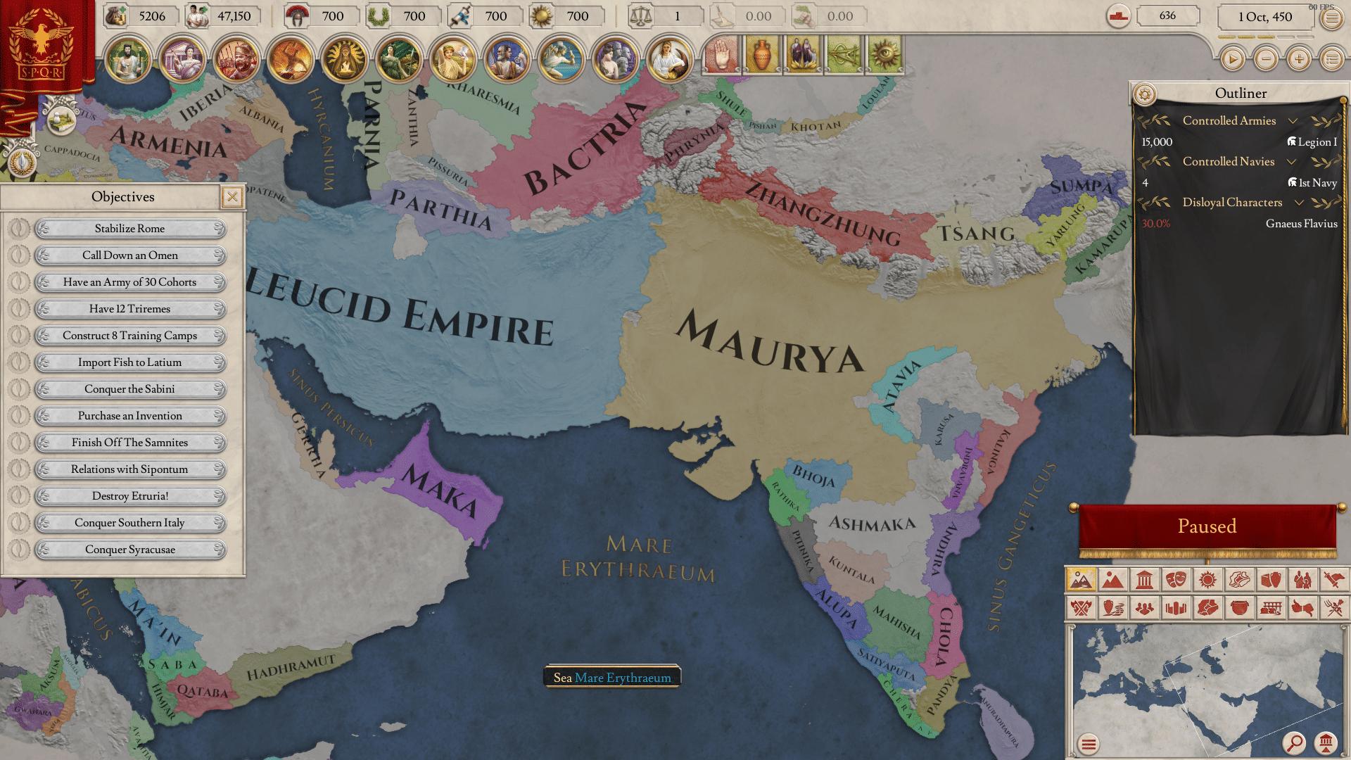 parte della mappa di imperator rome