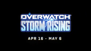 La copertina dell'evento stagionale Rising Storm di Overwatch