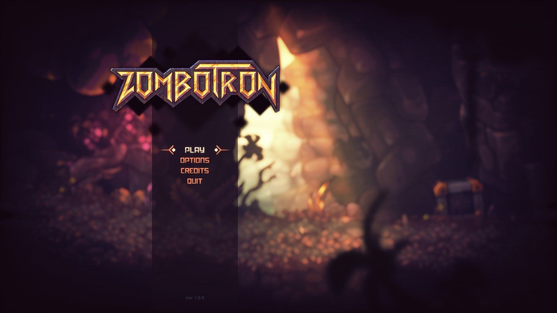 zombotron screen del menù