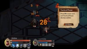 Masquerada: Songs and Shadows gameplay di pausa tattico