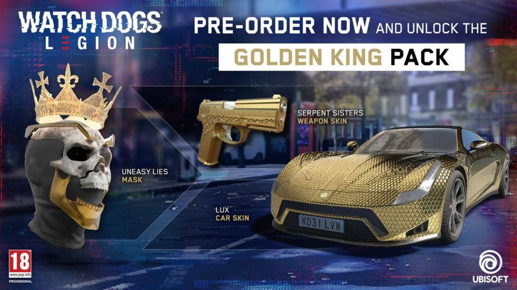 Watch Dogs Legion Collector's Edition: Golden King Pack