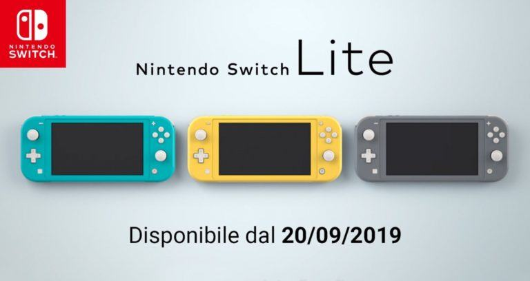 Nintendo Switch Lite preordini amazon e gamestop