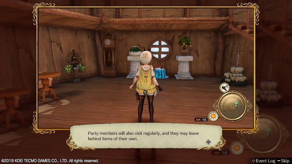 Atelier Ryza Ever Darkness & the Secret Hideout recensione Switch personalizzazione interno atelier