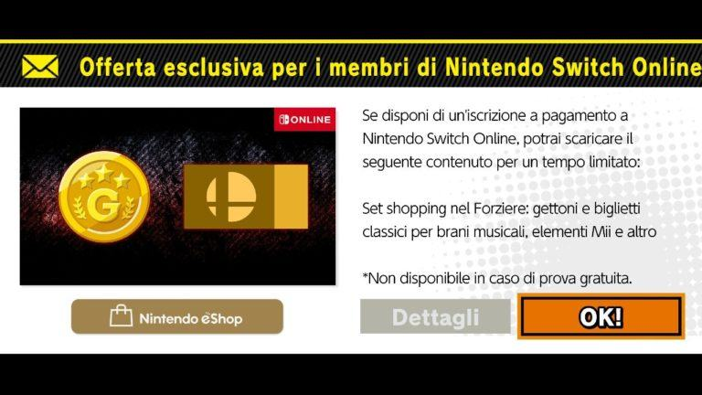 Offerta Nintendo Switch Online per Super Smash Bros. Ultimate
