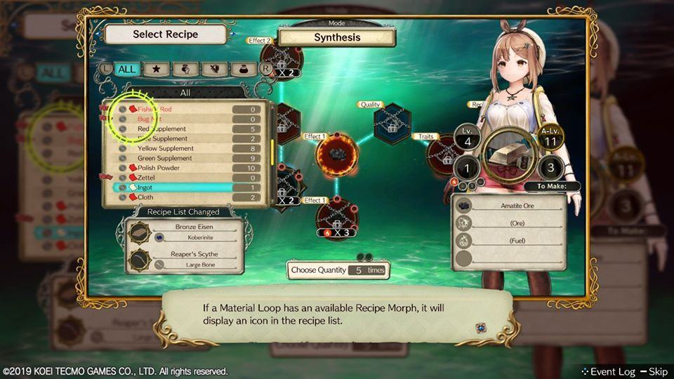 Atelier Ryza Ever Darkness & the Secret Hideout material loop