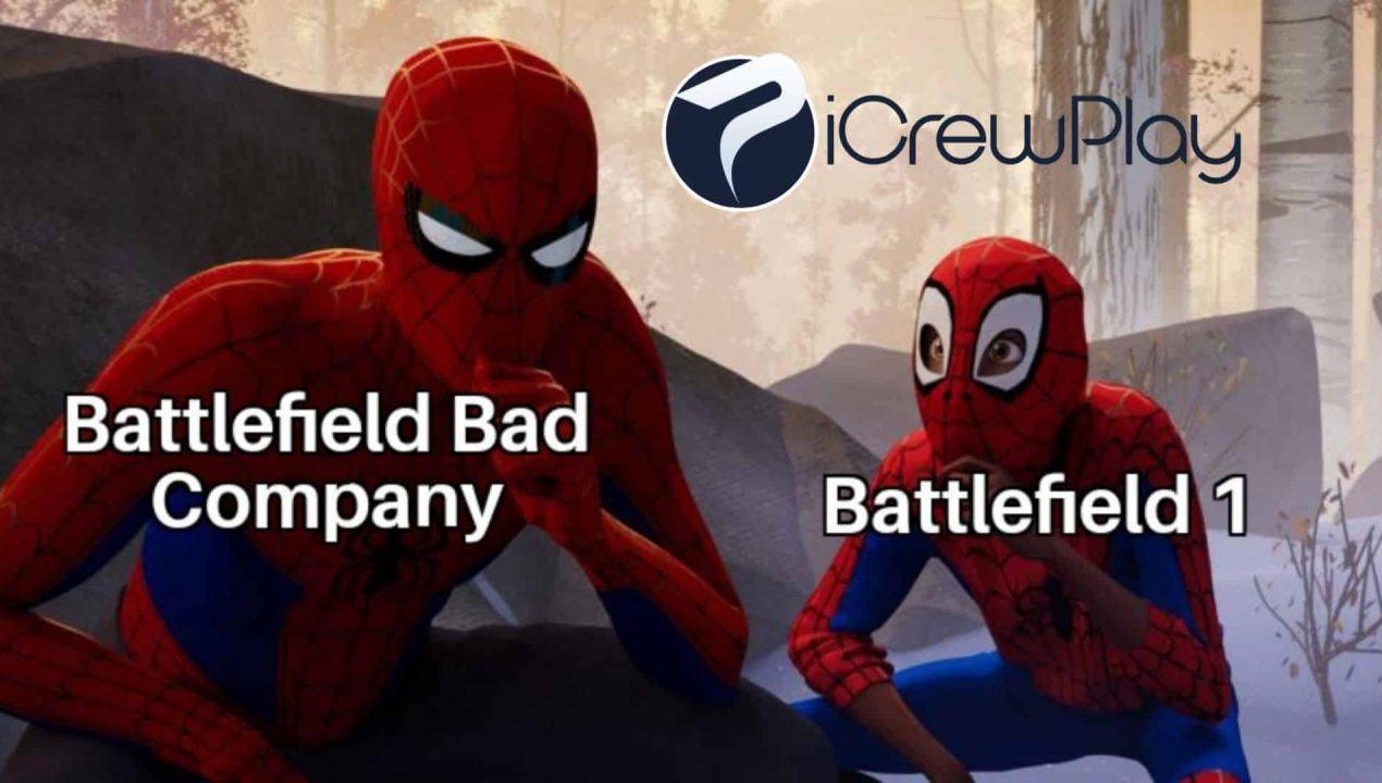 Spiderman Univers Battlefield meme